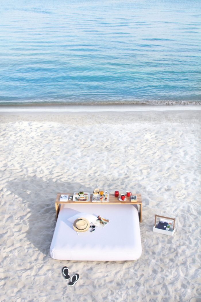 When breakfast is not just a breakfast. For the ultimate breakfast in bed experience, lay on one of the crisp white mattresses on the beach, just a step away from the sea, and enjoy the first light of dawn at Chaweng Beach. Gather with friends or loved ones at the Breakfast Culture table for the freshest bread and pastries, savory menus and the finest tea and coffee as you delight in the unique atmosphere of the East Coast.